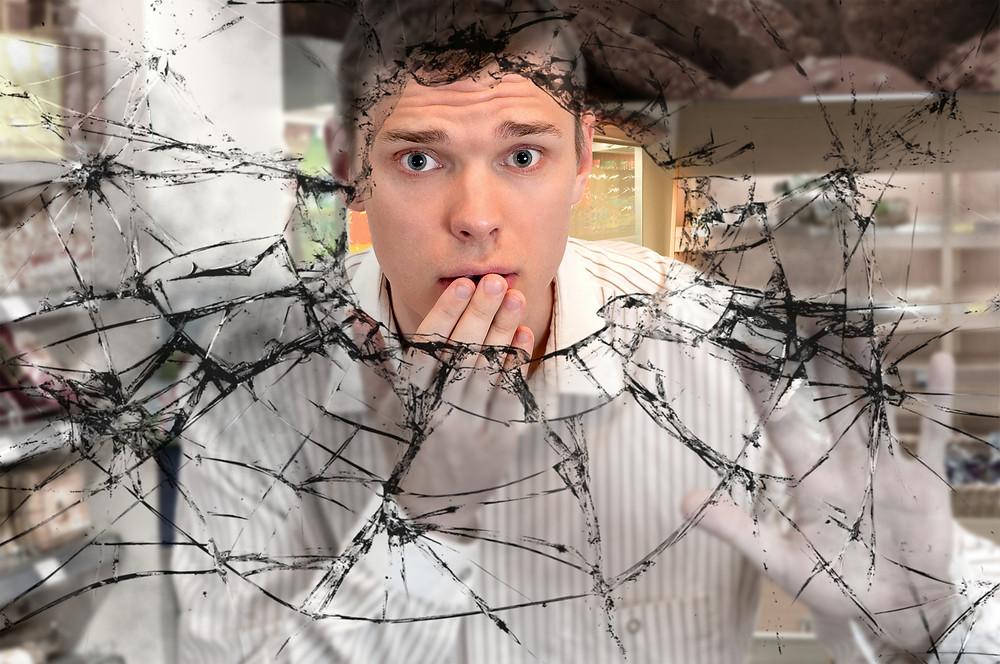 liability claim for broken glass