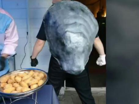 牡蠣コスチュームの作り方「牡蠣仙人」