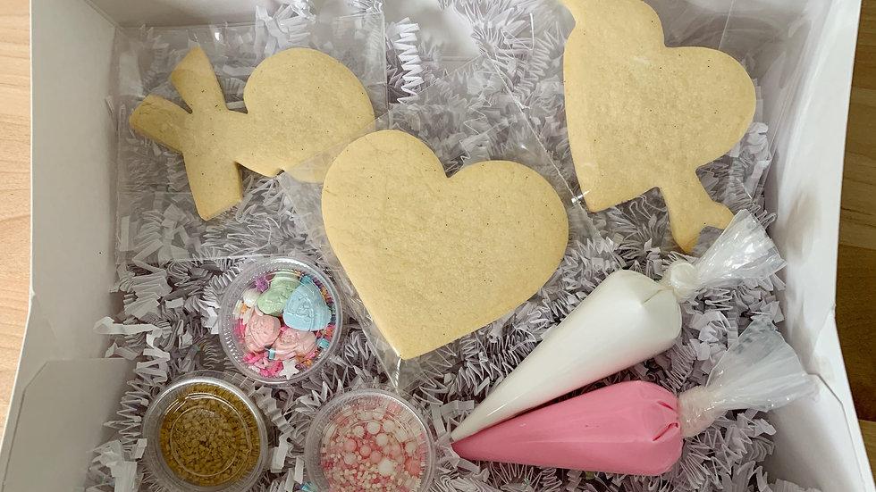Hugs and Kisses Mini Kit (3 Cookies)