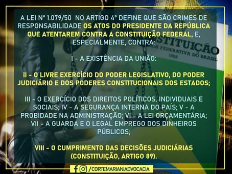 Crimes de responsabilidade do presidente da república