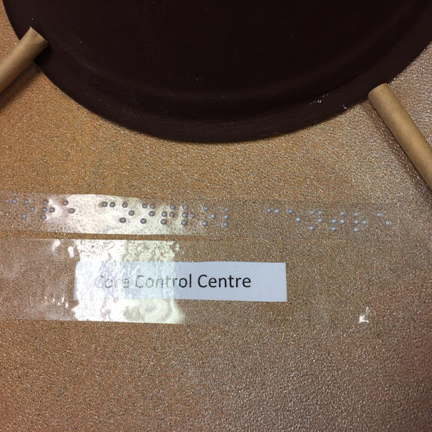 One student produced Braille labels for her team's models