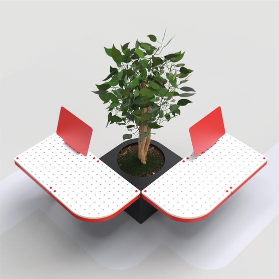 Seating with a planter