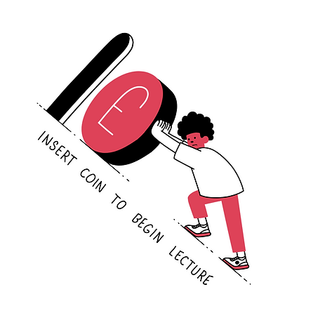Insert coin to begin lecture Illustration