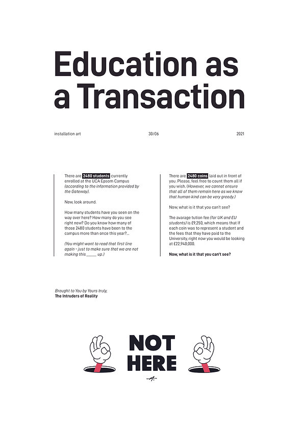 Education as a Trasaction Poster