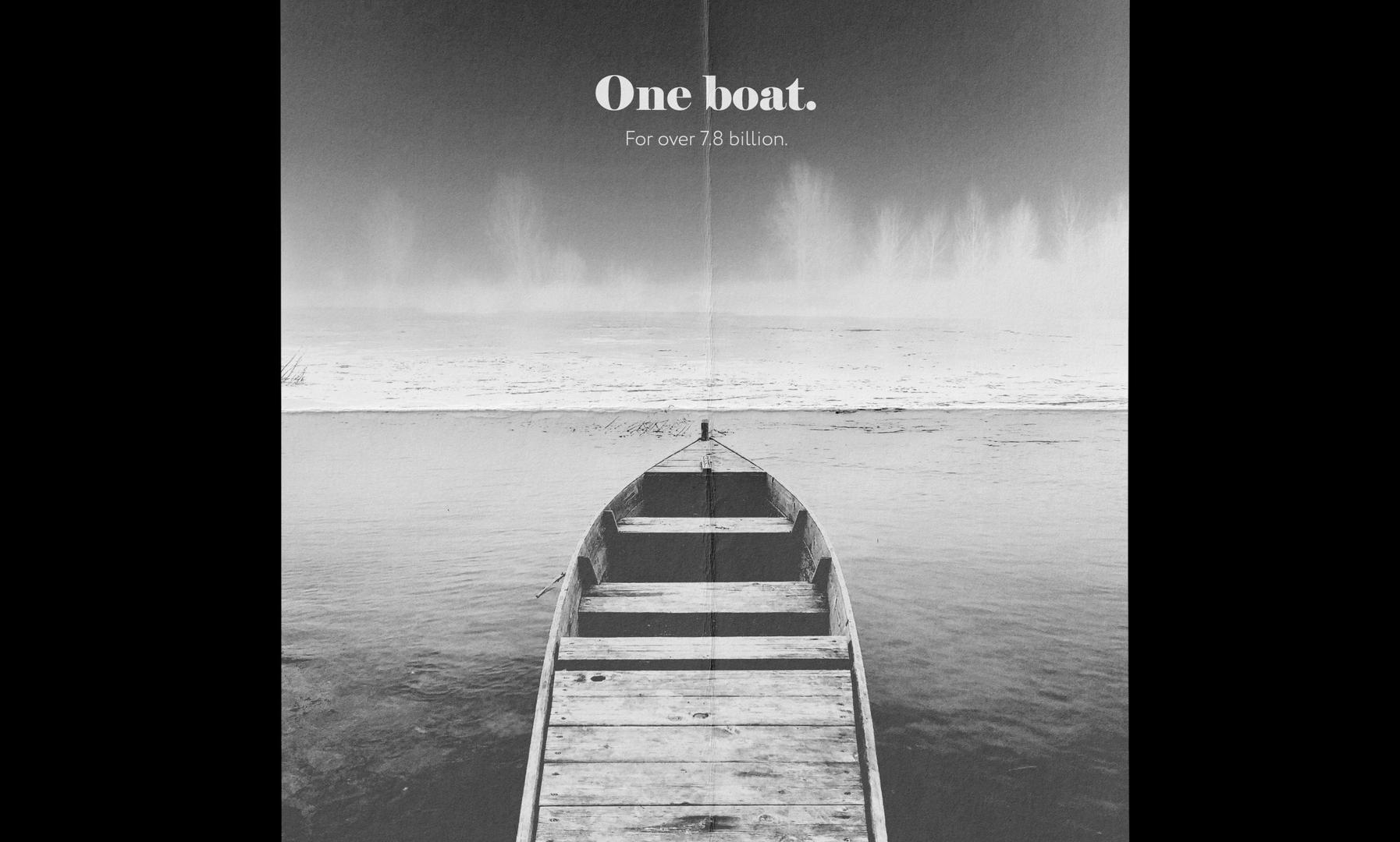 One boat.
