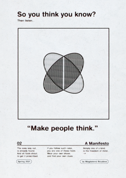 Make people think.