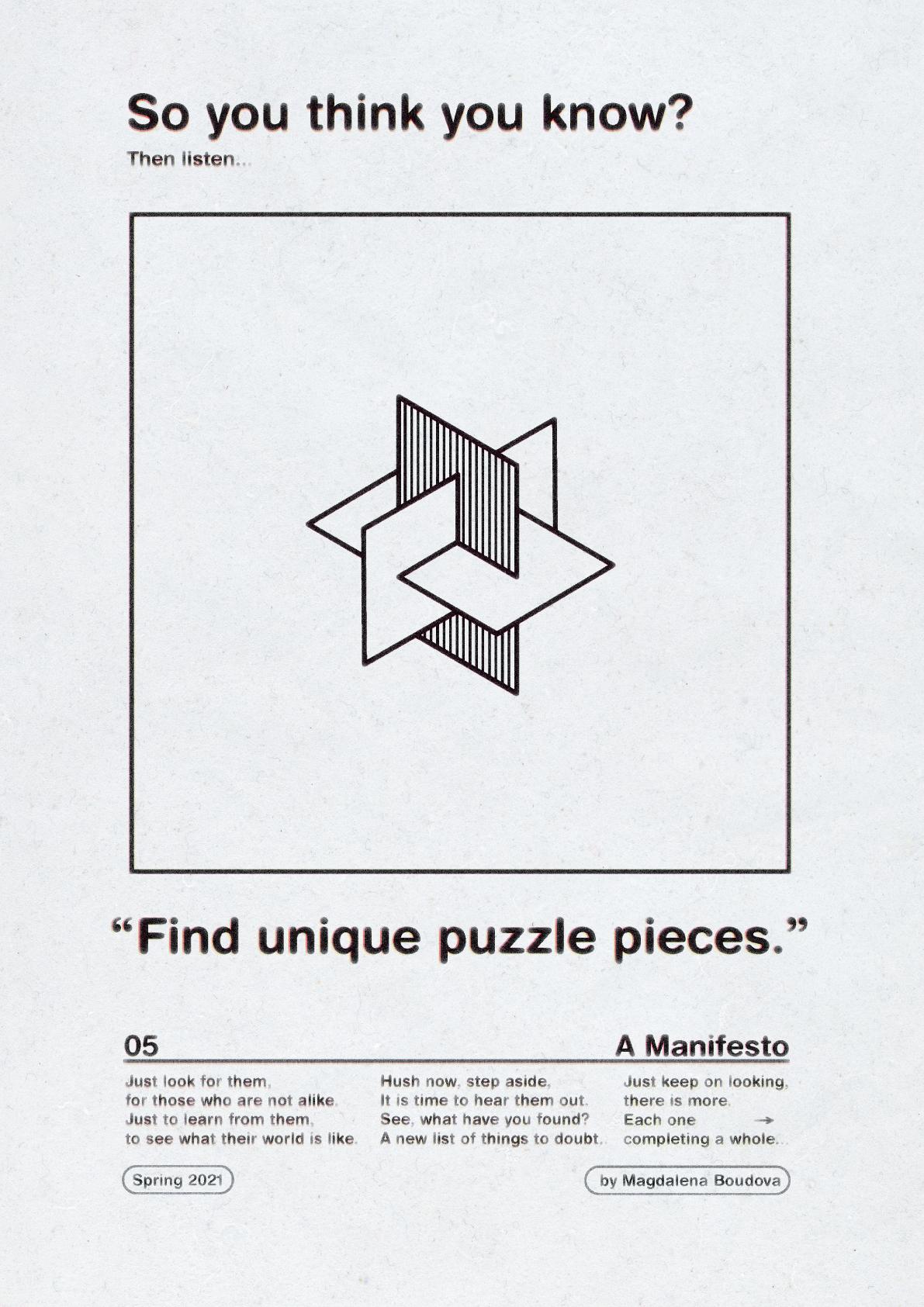 Find unique puzzle pieces.