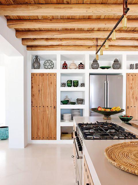 casa ibiza actualizada   cocina neorrústica