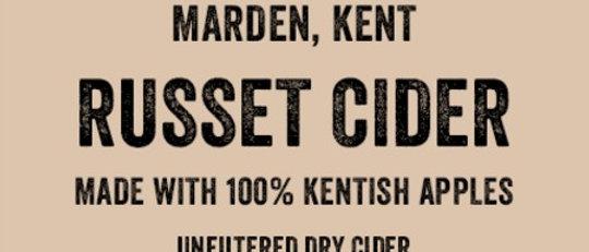 Turners Russet   Cider  BIB 20 litre  8%