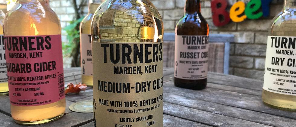 Turner's Medium Dry Cider 6.5%  12 x 500ml
