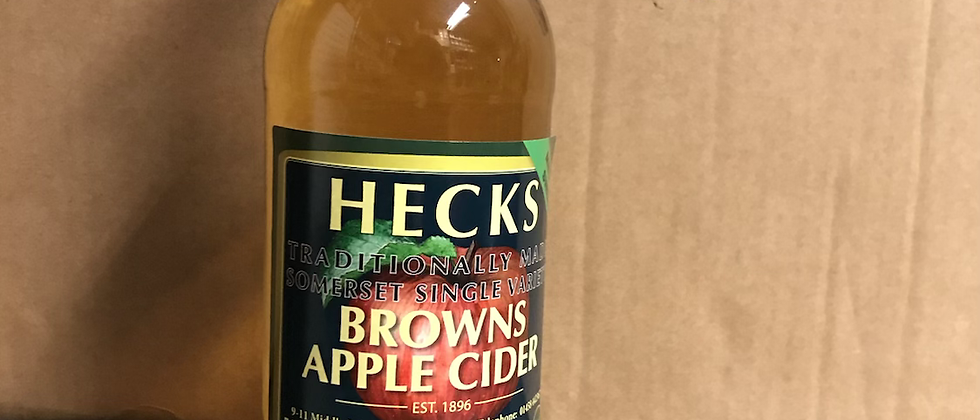 Heck's  - Browns Apple Cider 6.5 % x 12