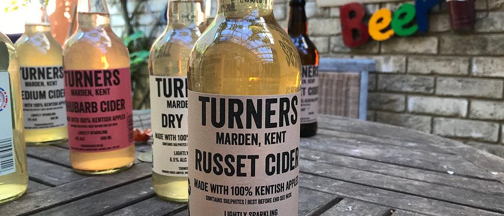 Turner's `Russet' Sparkling Cider 8%