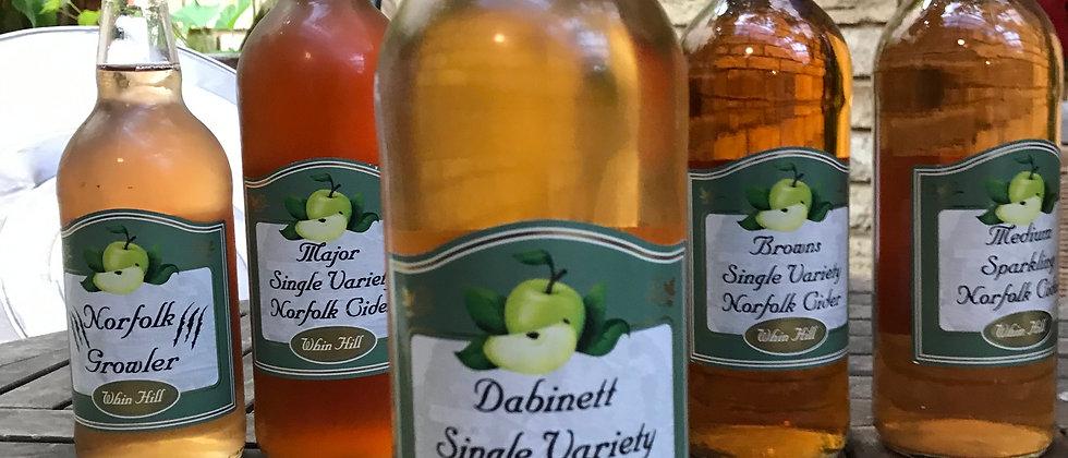 Whin Hill Dabinett S.V cider 7.4% -  750ml