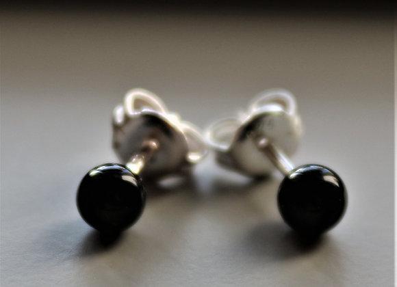 Tiny Onyx Stud Earring