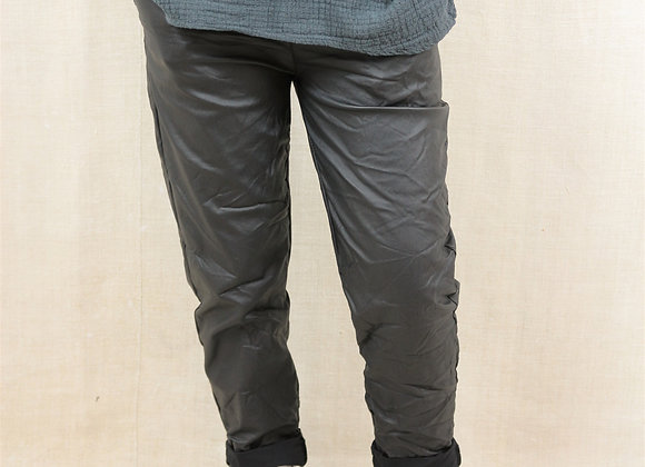 Coated Stretch Casual Trouser