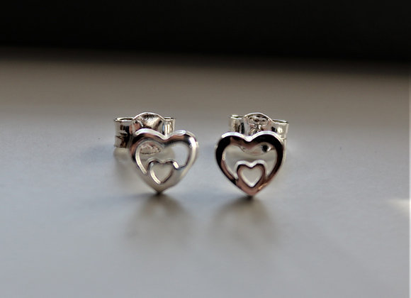 Double Heart Earring