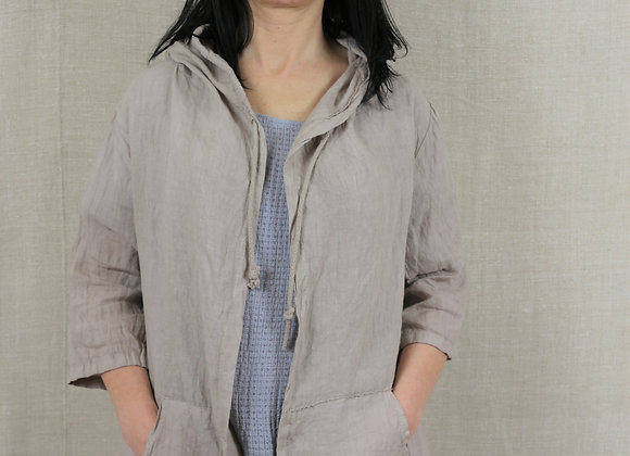 Linen Hooded Top