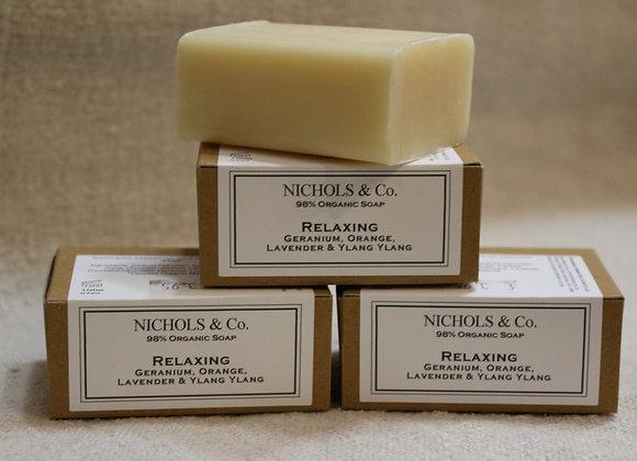100g soap. Relaxing