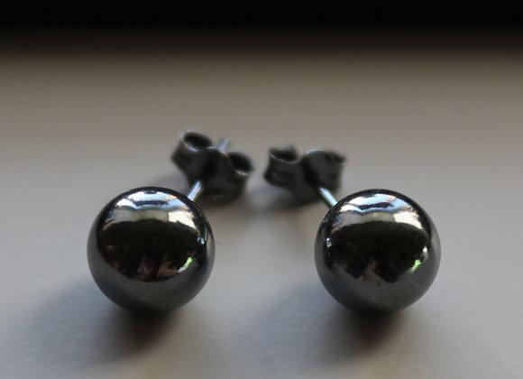 Oxidized Stud Earring