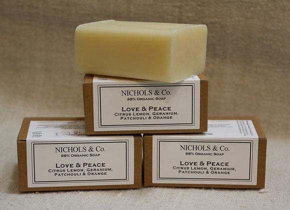 100g Soap. Love & Peace