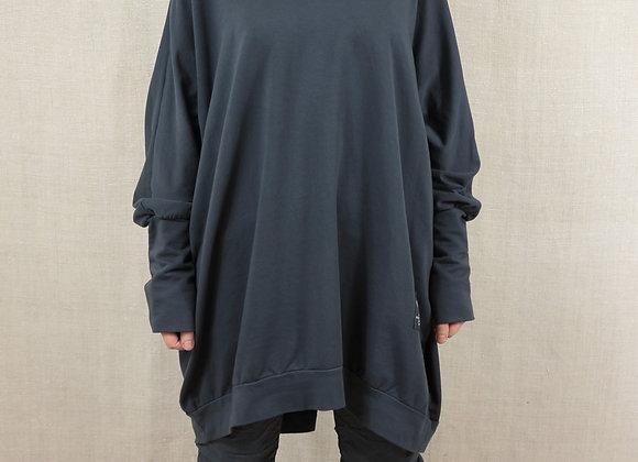 Zip Back Tunic Sweatshirt
