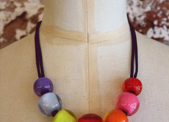 Zsiska Spectrum Bead Necklace
