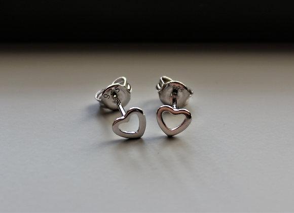 Open Heart Stud Earring