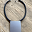 Thumbnail: Rubber and Metal Necklace mb018n