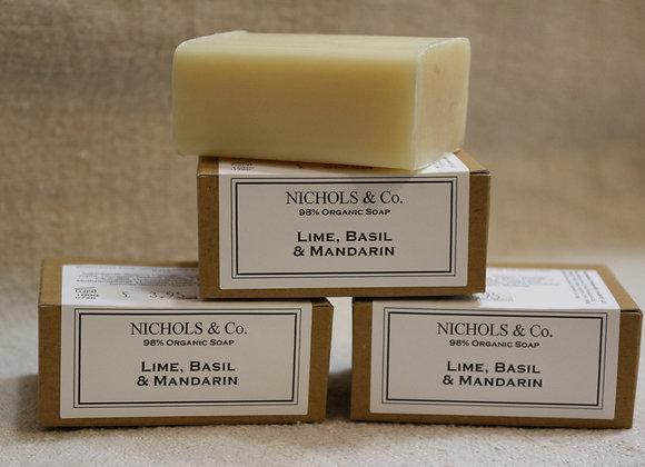100g Soap. Lime, Basil & Mandarin