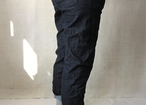 Denim Stretch Casual Trousers