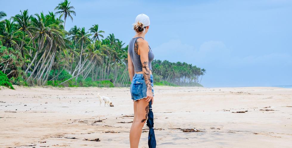Morning walks on the beach
