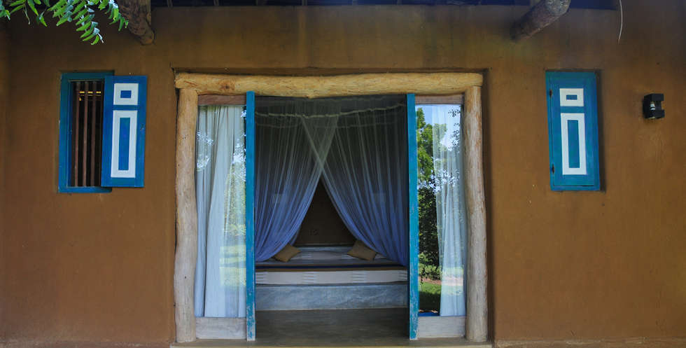 Let in the fresh air as you relax in bed
