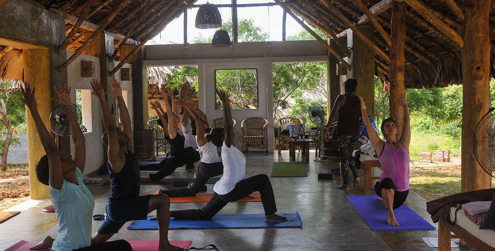 Practice restorative yoga guided by our resident teacher