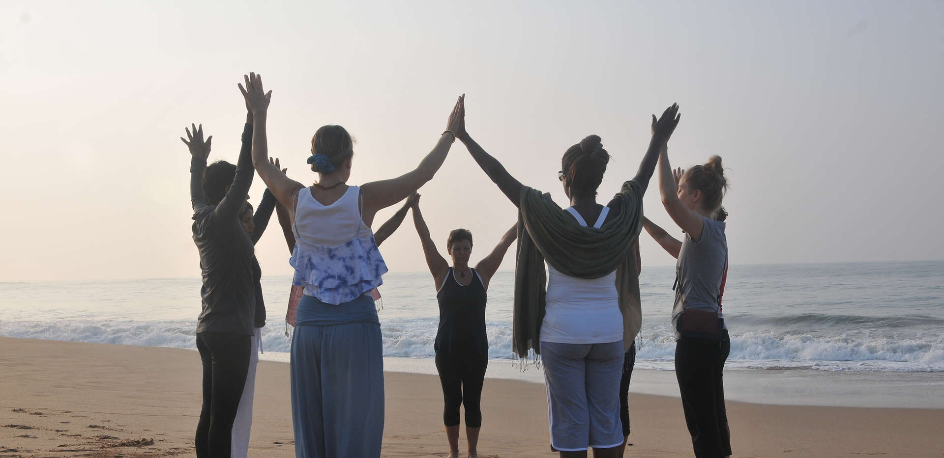 Enjoy a relaxing morning yoga flow on the beach