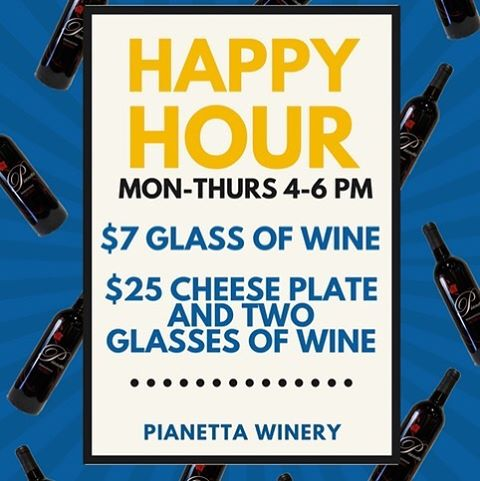 Happy Hour at Pianetta Tasting Room