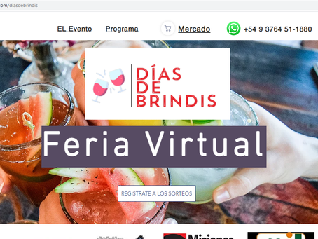 Se realizó la Feria Virtual de Bebidas Días de Brindis