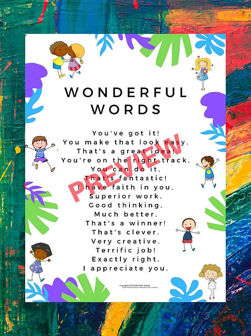 Wonderful Words Poster