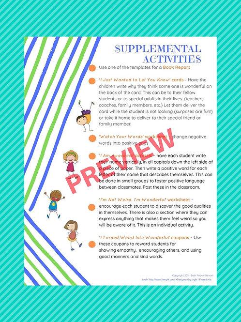 INWIW SUPAC, Supplemental Activities & More Supplemental Activites (set of 2)