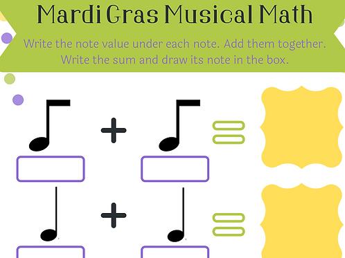 Mardi Gras Music Worksheets