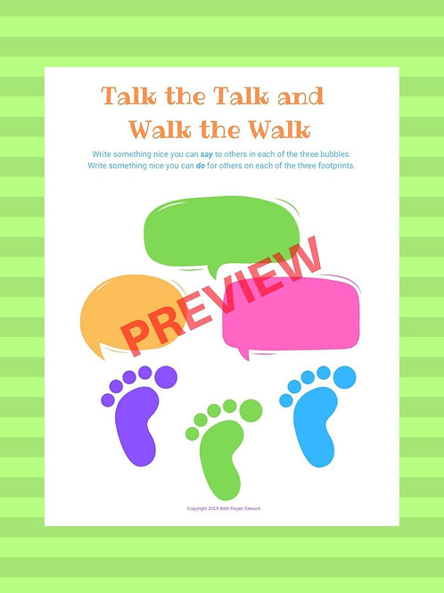 Talk the Talk Worksheet