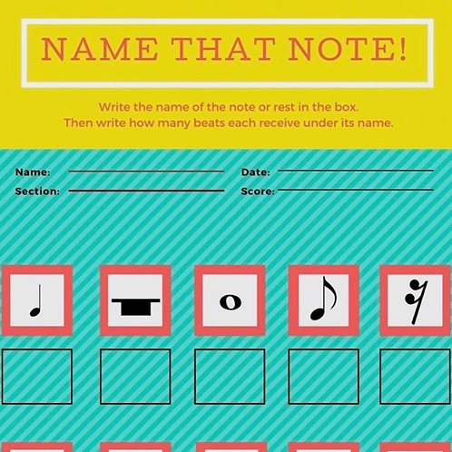 Name That Note Worksheet