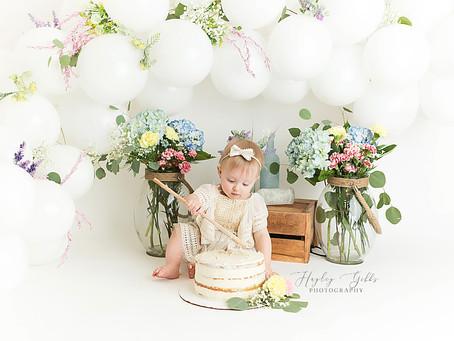 Rynlee | Floral 1st Birthday | Hayley Gibbs Photography | Snead Alabama Photographer