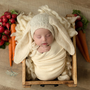 An Easter Inspired Newborn Session with Baby Lila | Newborn Photography | Hayley Gibbs Photography