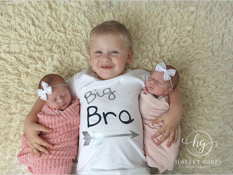 Nance Twins | Twin Newborn Session | Hayley Gibbs Photography