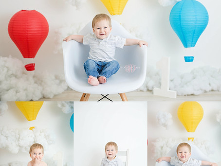 Eyan | Hot Air Balloon Cake Smash | Hayley Gibbs Photography