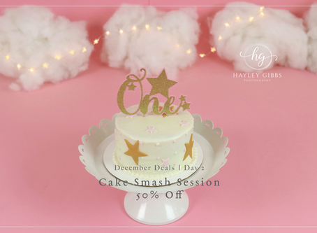 December Deal Days | Day 2! 50% off Cake Smash Sessions!
