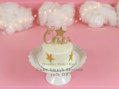 December Deal Days | Day 2! 50% off Cake Smash Sessions!