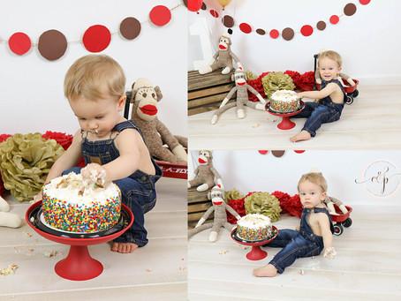 Bentley | Sock Monkey Cake Smash