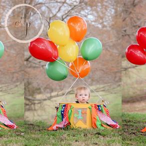 North Alabama Children Photographer: First Birthday Cake Smash
