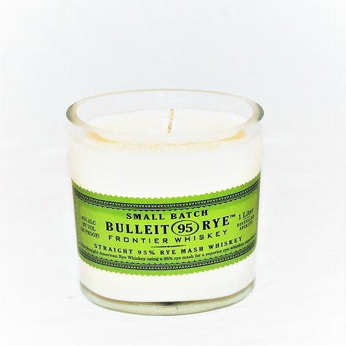 Bulleit Rye Liquor Bottle Candle
